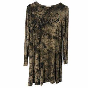 Hourglass Lilly Tie Dye Blessed Scripture Tunic